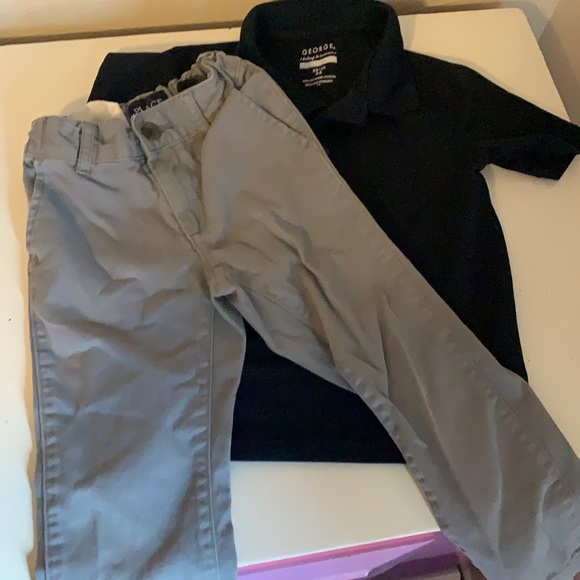 4T boys polo and khakis outfit